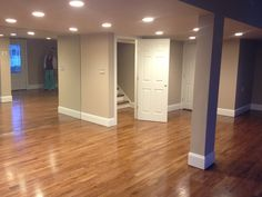 Finished First Level after Hurricane Sandy.. Special Walnut Oak wood Floors