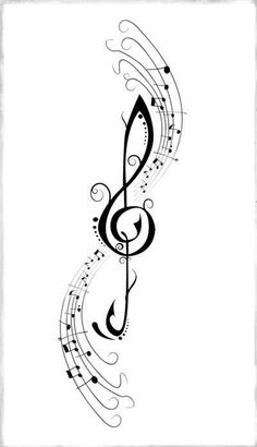 340 best music drawings images in 2019 Music Symbol Tattoo, Treble Clef Tattoo, Music Tattoos, Body Art Tattoos, Music Notes Art, Art Music, Aquarell Tattoos, Music Symbols, Note Tattoo