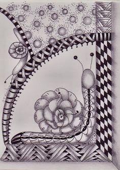 Tineke's Creations: 9 dagen een Zentangle