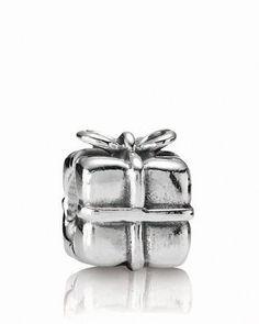 PANDORA Charm - Sterling Silver Present  Bloomingdale's