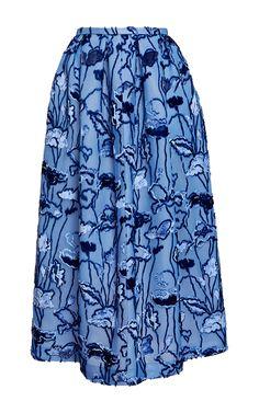 Velvet Floral Jacquard A Line Skirt by ROCHAS for Preorder on Moda Operandi
