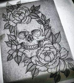 New drawing ideas tattoo sketches thigh piece ideas Leg Tattoos, Flower Tattoos, Arm Tattoo, Body Art Tattoos, Skull Thigh Tattoos, Tattoo Life, Thigh Piece Tattoos, Skull Rose Tattoos, Tattoo Art