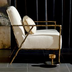 Bernhardt. Tremont Chair, sculpture cast, oil rubbed, bronzed