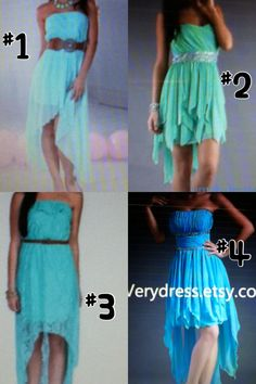 """Please comment which number dress you like? I have an 8th grade """"prom"""" dance coming up and I want to look nice (:"""