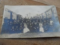 ww1? photograph hospital train sir james porter group photograph patients?