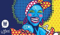 NEGRITA PULOY Guache, Arte Pop, Black Art, Pop Art, Carnival, Projects To Try, Behance, Comics, Crafts