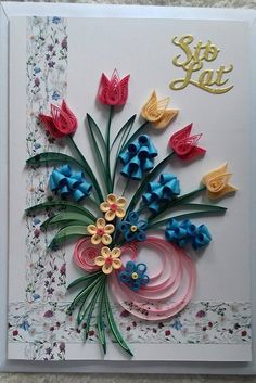 Quilling Birthday Cards, Paper Quilling Cards, Paper Quilling Flowers, Paper Quilling Tutorial, Flower Birthday Cards, Paper Quilling Patterns, Neli Quilling, Quilling Designs, Diy Quilling Crafts