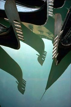 Ernst Haas: Reflections of Gondolas, 1955.