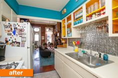 Before & After: Kerry's Colorful & Quick Rental Kitchen Makeover