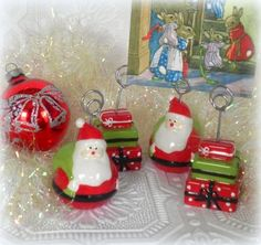 Set Of Christmas Photo Place Card Holders