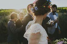 People Producciones · Destination wedding photographer · Fotógrafos de bodas · Bride · Groom · Cute · Love · Indie · Fotos de boda · Vintage style · Elopement · North of Spain · Boda en España · Bodas de tarde · Rustic Wedding · Boda al aire libre · Novia · Novio · Couple · Tocado de flores · Spanish wedding · Wedding dress · Corona de flores para novia · Bride flower headdress · Flower Crown · Floral crown · Traje de novio indie · El Ganso · Bowtie · Pajarita novio