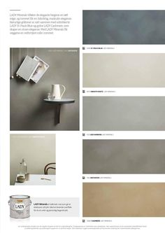 Lady Minerals Kalkfärg by Jotun Sverige AB - issuu Wall Colors, House Colors, Jotun Lady, Modern Farmhouse Kitchens, Colour Schemes, Wall Wallpaper, Colorful Interiors, Color Inspiration, Mineral
