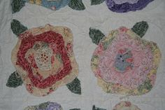This was a very fun raw edge applique quilt to make, I added a raw edge binding to create more texture and then jeweled the center of the fl. Raw Edge Applique, Rose Applique, Applique Quilts, Bella Rose, Quilt Making, Quilting, Roses, French, Texture