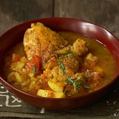 Malawian spiced chicken curry - simple and spicy.
