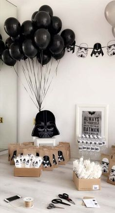 Trendy Birthday Party Ideas For Men Decoration Star Wars Ideas - E. - Trendy Birthday Party Ideas For Men Decoration Star Wars Ideas Trendy Birthday Party Ideas For Men Decoration Star Wars Ideas - Decoration Star Wars, Star Wars Party Decorations, Birthday Decorations For Men, Birthday Decor For Him, Balloon Decorations, Birthday Star, 40th Birthday Parties, Man Birthday, 40th Birthday Ideas For Men Party