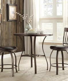 Gray & Brown Zachariah Three-Piece Bistro Dining Set | Daily deals for moms, babies and kids
