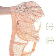JIAOAO Womens Thin Cup Bra Front Cross Strap Fashion Girl Comfortable Thin Cup Seamless Bra