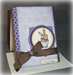 Simple Purple Easter Card
