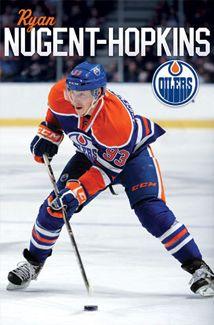 Edmonton Oilers Ryan Nugent-Hopkins Sports Poster Sports Poster - 56 x 86 cm Young Guns, Edmonton Oilers, National Hockey League, Hockey Players, Ice Hockey, Nhl, All In One, Soccer, Football