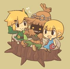 The Legend of Zelda: The Wind Waker   Link, Aryll, and Skull Kid