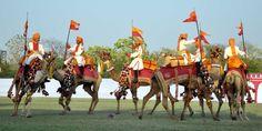 राजस्थान स्थापना दिवस के अवसर पर राजस्थान उत्सव का शुभारंभ। उच्च शिक्षा मंत्री श्री कालीचरण सराफ ने रविवार को जेडीए पोलो मैदान में किया। इस अवसर पर जोधपुर से आए सीमा सुरक्षा दल के ऊँट दस्ते ने मनमोहक कैमल टैटू शो भी प्रस्तुत किया।