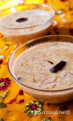 "Sheer khorma or Sheer khurma (literally ""milk with dates"" in Urdu) is a festival vermicelli pudding prepared by Muslims on Eid ul-Fitr in Pakistan, India and Bangladesh. It is a traditional Muslim festive breakfast, and a dessert for celebrations. Sheer (شير), is Persian for milk and khurma(خرما) is Persian for dates.   This special dish is served on the morning of Eid day in the family after the Eid prayer as breakfast, and throughout the day to all the visiting guests."