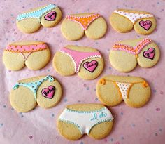 Fun cookies for a bridal shower. I love these!