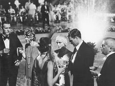 A scene from the movie The Great Gatsby with Mia Farrow and Robert Redford.