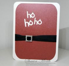 Ho Ho Ho Homemade Holiday Card   Make a DIY Christmas card that will remind you of Santa.