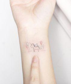 Super Cute Unicorn Tattoo by Mini Lau