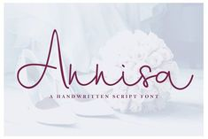 Annisa Script is a stylish signature font that is inspired by modern branding and photography. It's easy to use, to create a stunning watermark for your photos, invitations, branding. Best Cursive Fonts, Handwritten Script Font, Handwriting Fonts, Calligraphy Fonts, Lettering, Typeface Font, Wall Text, Design Typography, Branding Design