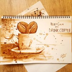 Keep Calm and Drink Coffee – Coffee Painting Food Painting, Coffee Painting, Artist Painting, Watercolor Paintings, Coffee Drinks, Coffee Coffee, Starbucks Cup Art, Coffee Artwork, Paisley Art