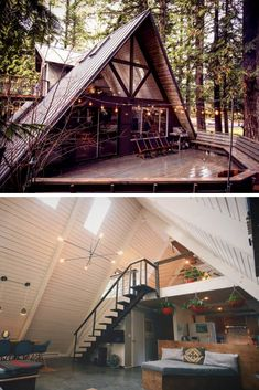 10 Magical Rustic A-Frame Cabin Homes - Rustic News home rustic, 10 Magical Rustic A-Frame Cabin Homes Tiny House Cabin, Cabin Homes, A Frame House Plans, A Frame Floor Plans, Cabin In The Woods, Tiny House Movement, Cabins And Cottages, Future House, New Homes