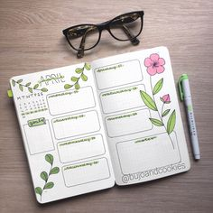 Hi everyone! A new week is about to start so it's time for a new #weeklyspread ! For this spread I decided to use a simple pink flower…
