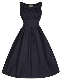 Oh I LOVE this dress! Lindy Bop 'Selema' Elegantly Vintage Fifties Style Evening Dress (XL, Black).
