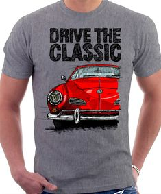 Clasic Retro VW KARMANN GHIA Early Model T shirt by LukasLoza