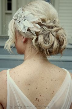 Pretty headband paired perfectly with a braided updo.    Photo by: Jeremy Lawson Photography