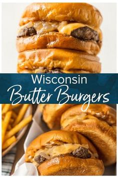 Butter Burgers are amazingly delicious! These butter-soaked burgers are not for the health-conscious, but they are for anyone who enjoys REALLY GOOD FOOD. This Wisconsin Butter Burger recipe will have you drooling before you even bite into the juicy, chee Wisconsin Butter Burger Recipe, Best Burger Recipe, Recipe For Burgers, Grass Fed Beef Burger Recipe, Simple Burger Recipe, Burger Wisconsin, Garlic Burger Recipe, Best Homemade Burgers, Gastronomia