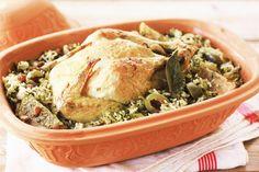 Oven-braised chicken