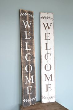 Rustic Welcome sign // Large Porch Welcome Sign // Modern