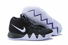 Hot sale nike kyrie 4 shoes black white online Discount Nikes 955067f907