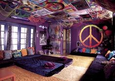 bedroom, colorful, happiness, hippie, love