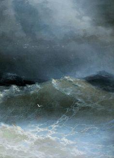 Ivan Aivazovsky, Waves (detail), 1849.