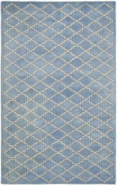 $5 Off when you share! Safavieh Chatham CHT930A Blue Grey Rug | Contemporary Rugs #RugsUSA