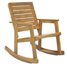Safavieh Outdoor Alexei Teak Rocking Chair