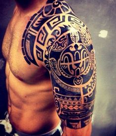 The symbolic identity of the Marquesan tattoo - tattoo mot .- Die symbolische Identität des Marquesan-Tattoos – Tattoo Motive The symbolic identity of the Marquesan tattoo - Tribal Shoulder Tattoos, Mens Shoulder Tattoo, Tribal Sleeve Tattoos, Polynesian Tattoo Designs, Tribal Tattoo Designs, Tattoo Sleeve Designs, Samoan Designs, Design Tattoos, Half Sleeve Tattoos For Guys