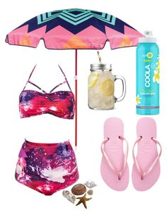 """""""Irány a strand"""" by nori-galanfy on Polyvore featuring Havaianas, Sunnylife and COOLA Suncare"""