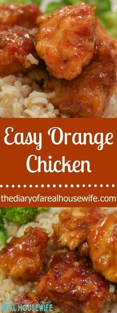 Easy Orange Chicken Just as good as take out and this was so EASY to make! is part of Easy Orange Chicken Just As Good As Take Out And This Was So - BeautyHaircutsNails Healthy Recipes, New Recipes, Cooking Recipes, Recipies, Yummy Recipes, Recipe Tasty, Bread Recipes, Easy Chicken Recipes, Turkey Recipes