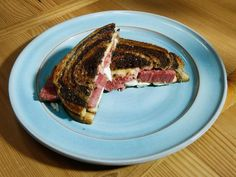 Get Corned Beef Reuben with Savoy Cabbage Slaw Recipe from Food Network