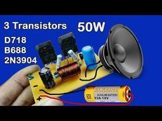 Audio Amplifier (using 2 Transistor BC548,2SC2625) - YouTube